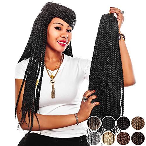 30 Inch Crochet Box Braids - Alileader Box Braids Crochet Hair 30 Inch 1cm...
