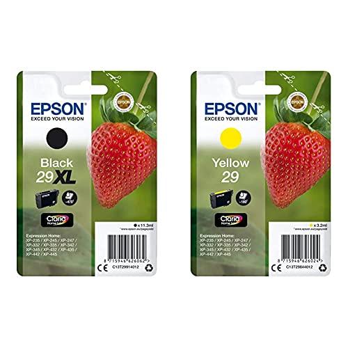 Epson C13T29914022 Cartucho de Tinta, XL + C13T29844022 Cartucho de Tinta