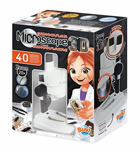 Buki France Stereo 3D Microscopio Binoculare, Multicolore, MR500