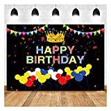 Cartoons Minnie Mouse Theme Photography Backdrops Children Boys or Girl Happy Birthday Photo Background Baby Shower Party Supplies Cake Dessert Table Decor Props 5x3ft Vinyl