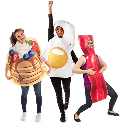 funny halloween costumes Grand Slam Breakfast - Pancakes, Bacon, & Egg Funny Group Halloween Costume