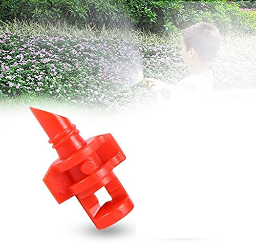 OKBY Sistema de riego por aspersión - 50 Piezas Micro jardín césped rociador de Agua Boquilla de nebulización Sistema de riego por aspersión(360°)
