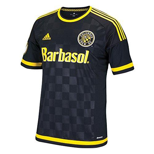 MLS Columbus Crew Men's Replica Short Sleeve Team Jersey, Black, Medium