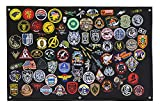 Tactical Patch Display Holder Panel Board for Military Army Morale Hook and Loop Emblems, 24 Inches x 36 Inches, No Patches Included