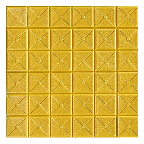 XJLG 3D behang muur papier 3D baksteen muur sticker 10PCS, afneembare PE schuim muur tegel behang slaapkamer woonkamer achtergrond TV decoratie 70 * 70cm baksteen behang