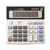 YEBMoo grande calculatrice calculatrice électronique compteur solaire et batterie affichage à 12 chiffres multifonction gros bouton calcul d'école de bureau d'affaires