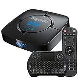 Android TV Box Support 6K 3D 4GB 32GB H616 Puce Wi-FI 2.4G/5G LAN 100M USB 2.0 Bluetooth 4.1 avec Mini Clavier