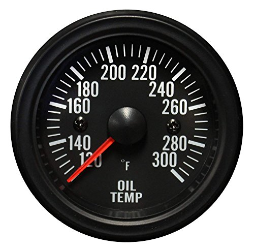 Oil Temperature Gauge-Waterproof Electrical White LED Performance Series 52mm (2 1/16)