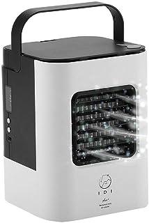 Enfriador de Aire Ventilador de Aire Acondicionado Mini Portátil Personal Ventilador de Ventilador y Ventilador de Nebulización para Circulador Dd Aire en Espacio Evaporativo(Negro)