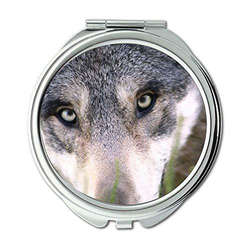 Yanteng Spiegel, Reise-Spiegel, Tierhundefuchs, Taschenspiegel, tragbarer Spiegel