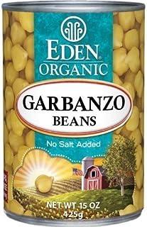 Eden Organic Garbanzo Beans, No Salt Added, 15-Ounce Cans (Pack of 12) ( Value Bulk Multi-pack)