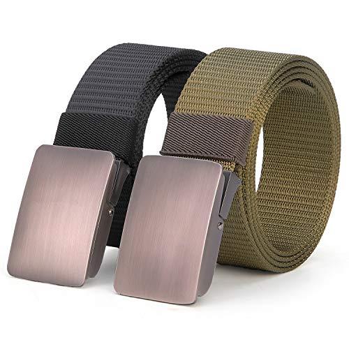 ANDY GRADE Nylon-Gürtel mit einfacher Schnalle, taktischer Rigger-Gurtband, verstellbarer Gürtel für Herren, Jeans - - M-Länge 49