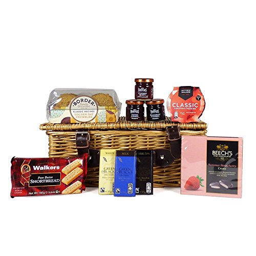 Sweet Treats Wicker Basket Gift Food Hamper - Gift ideas for Mum, Valentines, Mother's Day, Birthday, Business and Corporate