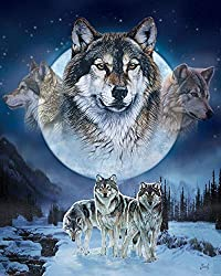"MHS ""Wolf Pack"" Al Agnew Luxury Plush Queen Size Blanket, 79 by 94 inches"
