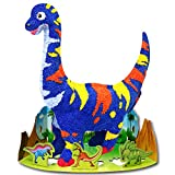 Colorloon - Foamclay 4 Colors - Dino Seismosaurus Coloring Paper Balloon Toy - Arts and Crafts for Girls & Boys Ages 3-12 - Ideas for Kids Activities