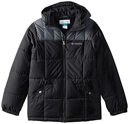 Columbia Wasserabweisende Jacke für Jungen, Gyroslope Jacket, Nylon, Schwarz, Gr. S, 1624361