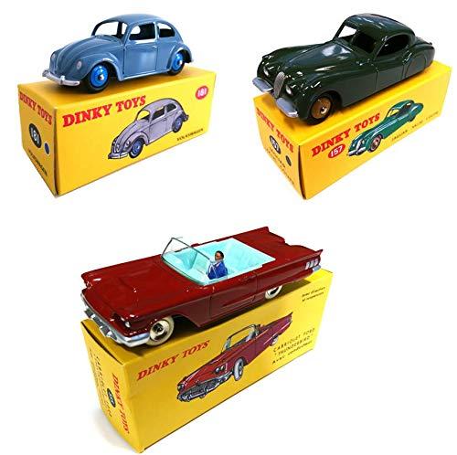 OPO 10 - 3er-Set Norev für DeAgostini Dinky Toys: Jaguar XK120 + Ford Thunderbird + Käfer (157 + 555 + 181)