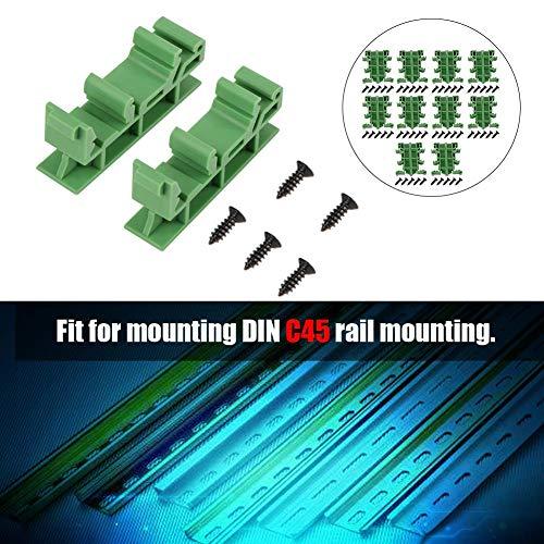Hutschienen Adapter Set,Jectse 10 pcs PCB DIN C45 Schiene Adapter,Montage für DIN C45-Schienenmontage,zum Sichern und Halten von Leiterplatten- oder elektronischen Schaltgeräten
