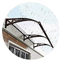 LIANGLIANG ひさし 日よけ 雨よけ、ミュート セルフクリーニング 難燃性 アルミ合金ブラケット、のために使用される ドア バルコニー 衣類乾燥ブース、カスタマイズされたサイズ (Color : Transparent, Size : 100x80cm)