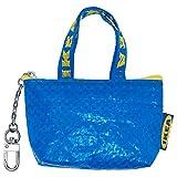 IKEA イケア KNOLIG クノーリグ バッグ ブルー S サイズ キーチェーン ジッパー付 小銭入れ 404.287.74 40428774
