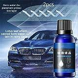 FYLHX Autokristallglas-Überzugsflüssigkeit, regensicheres Anti-Fog-Flüssigglaswachs, Frontsperrschicht-Autowachs für Autopflege-Reinigungsmittel (2pcs)