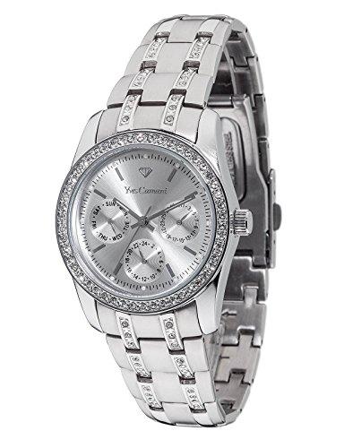 YVES CAMANI MIELLE II Damenuhr 35mm Silber Edelstahl Armband