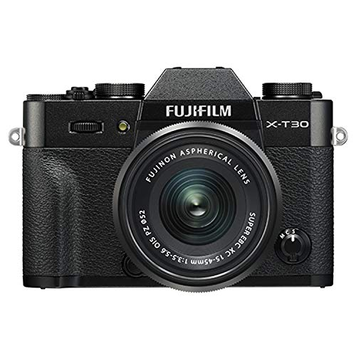 Fujifilm X-T30 Mirrorless Digital Camera w/XC15-45mm Kit - Black