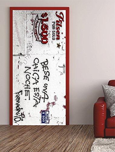 Türposter PILSEN 62x200cm Türfolie Türtapete Graffiti Kunst Bier 669tp