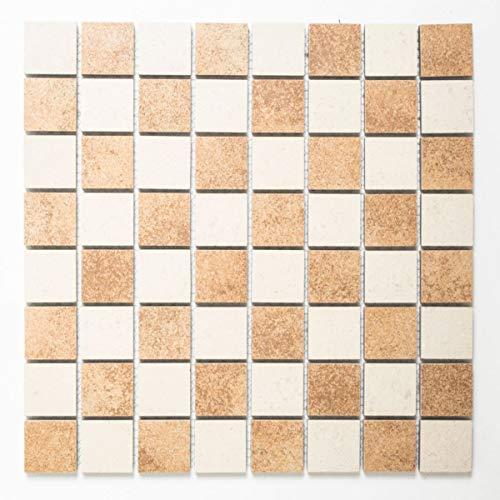 Feinsteinzeug Mosaik beige teracotta Fliesenspiegel Küche Rückwand BODEN CCT 312
