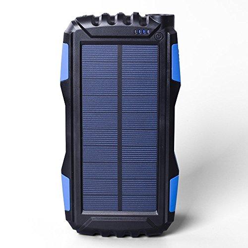 SOLARBATT Cargador Solar batería Externa Powerbank 25000mAh con 2 Salidas USB Diseño...