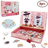 ANIKI TOYS Libro di attività Magnetica di Puzzle 3-7 Anni di età Gioco educativo Sega Giocattolo - Ragazza