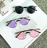 BHLTG Gafas de Sol para Hombre Influx Gafas de Sol con Montura Redonda Sun Steampunk Espejo Plano Sábana Protectora UV Gafas-2