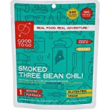 GOOD TO-GO Smoked Three Bean Chili - Single Serving | Dehydrated Backpacking and Camping Food | Lightweight | Easy to Prepare