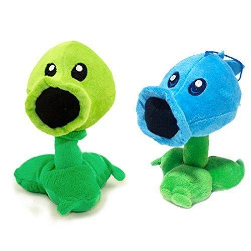Toyswill Plants Vs Zombies Stuffed Plush Toy - Ice Peashooter 17cm/6.7' Tall-Peashooter 17cm/6.7' Tall