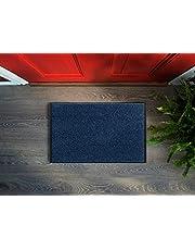 Floorcover Premium deurmat antislip - deurmat & vuilschraper in grijstinten blijft het vuil buiten en het huis schoon (blauw, 60 x 80 cm)