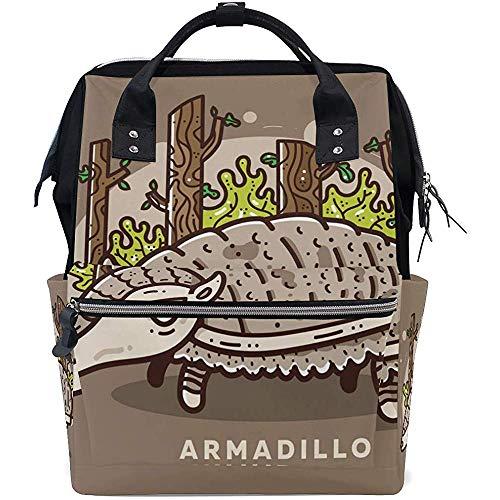 Bolsas de pañales de Dibujos Animados de Armadillo Bolsas de Mano de Momia Mochila multifunción de Gran Capacidad para Viajes