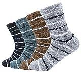Soft Fuzzy Socks Striped Bed Sleep Floor Socks Winter Warm Fluffy Socks, style 2