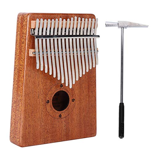 Price comparison product image Kalimba Mahogany Wood Metal Musical Instrument K17M, for Musical Instrument Performances