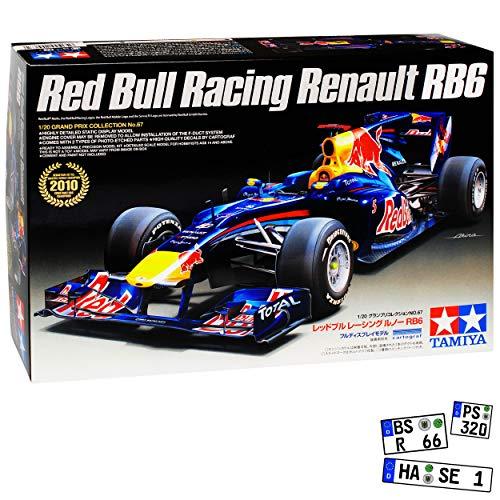Tamiyia Red Bull Racing Renault RB6 Sebastian Vettel Formel 1 Weltmeister 2010 20067 Kit Bausatz 1/20 Modell Auto Modell Auto