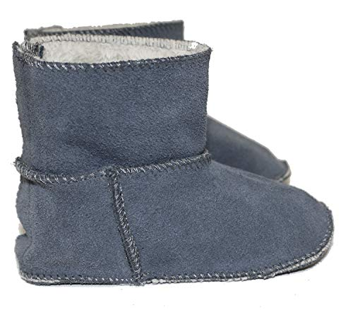 Frenchie Mini Couture Sheepskin Lined Boot, Baby, Toddler, (12-18 mo, Grey)