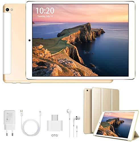 4G Tablet 10 Pollici Android 9.0 Tablet Google Certificazione GMS Quad-Core 32/128GB ROM 3GB RAM Tablet PC Dual SIM+Micro SD /8500mAh, WI-FI, Bluetooth, GPS, FM, Type-C, Netflix, Disney+, YouTube