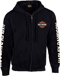 Men's Hooded Sweatshirt, Bar & Shield Zip Black Hoodie 30299142