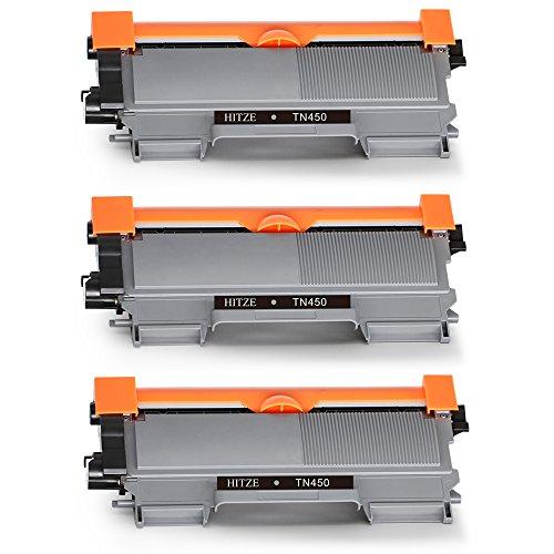 Hitze TN2220 TN2210 Toner Compatible para Brother MFC-7460DN MFC-7360N MFC-7860DW HL-2250 HL-2250DN HL-2270DW HL-2240D FAX-2845 FAX-2840 FAX-2940 DCP-7060D DCP-7065DN DCP-7070DW (3 Negro)