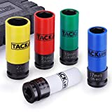 TACKLIFE Chiave a Bussola per Dadi Ruota, Materiale CRV, 5 Pcs (15mm, 17mm, 19mm, 21mm, 22...