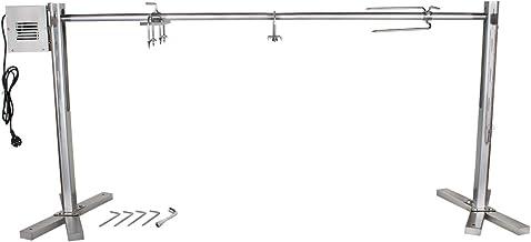 """Beeketal """"BSG150-SG"""" Stand Spanferkelgrill für Feuerstellen oder Lagerfeuer mit Spießgrill Motor ca. 4 U/Min, stabile 4-fach höhenverstellbare Edelstahl Konstruktion inkl. Boden Befestigungshaken"""