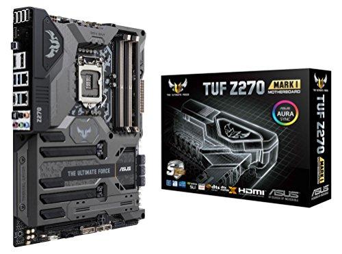ASUS TUF Z270 MARK1 Scheda Madre, Socket 1151 ATX, Thermal Armor, Dual M.2, Dual LAN, USB 3.1 Type-C