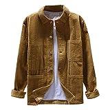 waotier Camisas Casual Chaqueta Hombre Otoño Moda Vintage Pana Camisas Cazadora Casual Manga Larga...