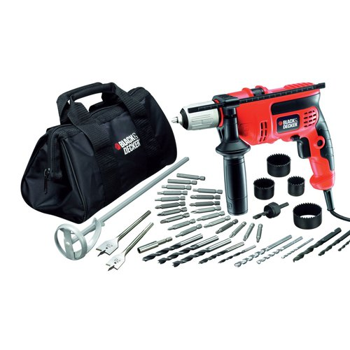 Trapano Black & Decker con percussione + accessori CD 714 CREW 2