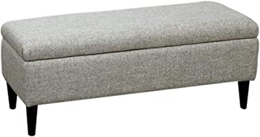 YYQIANG Folding Large Storage Ottoman Strong and Durable Needle Stitching Linen Fabric Footstools Ottomans Durable and Stylis