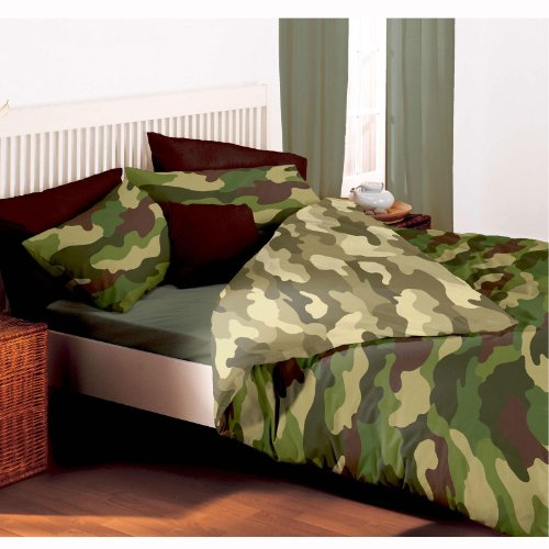 PRH Army Camouflage Reversible Double Duvet and Pillowcase Set